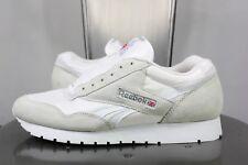 c09838172b3f90 vintage Reebok classic sneakers US 10 UK 7.5 EU 41 white leather 90 s  deadstock