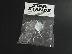 20 x Vintage Star Wars Figure Display Stands Wide - (Turtles/GB) T2c