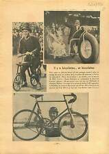 Bike Bicyclette vélo Georges Paillard l'autodrome de Montlhéry 1937 ILLUSTRATION