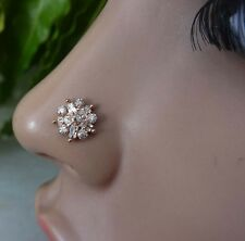 .Nose Jewelry Indian Nose Ring Nose Piercing Feather Crock Screw Nose Stud .