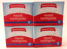 America's Choice Round Toothpicks 1000 pcs (4 packs of 250)