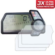 3 x DUCATI MULTISTRADA 1200 S 2010-2014 Protector de pantalla Ultra-Transparente
