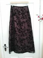 Next Womens Black Pink Lacey Maxi Skirt Size 10