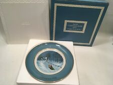 Avon Christmas Plates In Box Excellent 1976 Vintage Bringing Home The Tree