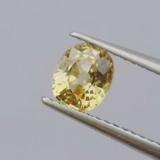 0.93ct new yellow gold color sapphire natural quality gemstone collectibles 100%
