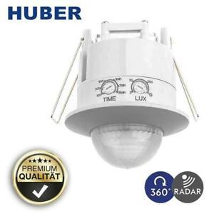 HUBER 360° Bewegungsmelder 37141 hochsensibel Einbau Präsenzmelder u Putz