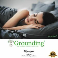 Earthing Sheet Pillowcase - Grey Color | With Grounding Cord