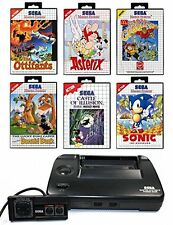 SEGA Master System 2 + Pad + Sonic, Asterix, Mickey Mouse, Ottifants etc. + Zub.