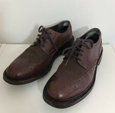 Barbour Shoes Brown Leather Size 8 Brogues Formal Laces