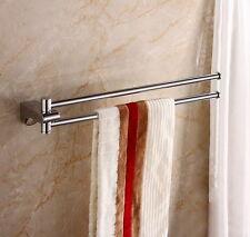 Brass Swivel Arm Towel Rack Bathroom Wall Mounted Towel Bars Swivel 2 Bars