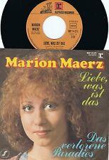 Marion Maerz ORIG GER PS 45 Liebe was ist das NM '73 Reprise Eurovision