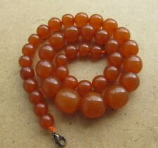 Natural Antique Baltic Vintage Amber Beads OLD Pressed Necklace stone  jewelry