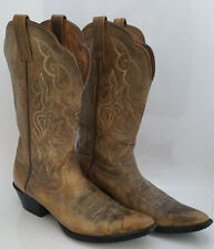 Ariat Heritage Cowboy Western Boots Womens 8.5 B Brown Distressed Leather #15729