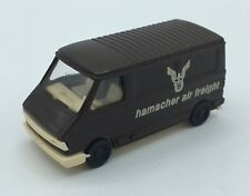 "PRALINE FIAT 242 VAN - "" HAMACHER AIR FREIGHT"" - BROWN HO SCALE (1:87)"