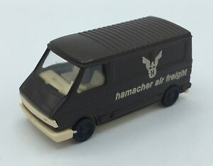 "PRALINE FIAT 242 VAN - "" HAMACHER AIR FREIGHT"" - BROWN HO SCALE (1:87)"
