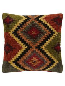John Lewis Large Tarma Diamond Multi High Quality Cushion Cover embroidery kilim