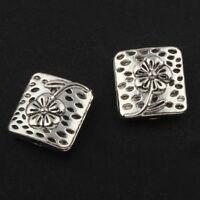 15 Zwischenteile Quadrat Metallperlen 10mm Tibet Silber Spacer Schmuck BEST F220