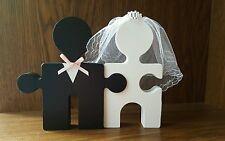 Sposa E Sposo Mr & Mrs in legno cake topper centro Pezzo Wedding Decor