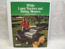 1980s White Lawn Tractors and Riding Mowers Yard Boss T and R Series Brochure NC