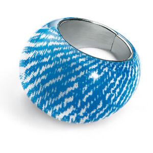 SWATCH BIJOUX  -  JRS021  ORBICULA BLUE   RING  -  NEW !  VERY RARE !