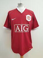 N517 MENS NIKE MANCHESTER UTD 2006-07 RED AIG V-NECK FOOTBALL SHIRT UK XL EU 54