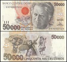 Brazil 50,000 (50000) Cruzeiros, 1992, P-234, UNC