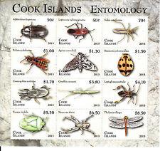 Isole Cook 2013 MNH ENTOMOLOGIA definitivo parte 1 12V M / S INSETTI COLEOTTERI Moth