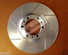 FORD FALCON BA BF FG (6 CYL) SLOTTEDDISC BRAKE ROTORS SLOTTED WITH BRAKE PADS