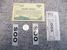 Champ decals HO HC-474 Soo Line  caboose  H131