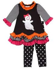 New Girls Rare Editions size 5 GHOST Ruffle Halloween outfit Dress Clothes $58