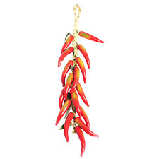Artificial Chilli Red Hanging 50 cm Plastic Fake Fruit Realistic look & touch