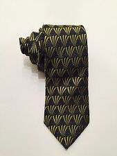 TED BAKER Men's Tie 100% Silk Green/Navy