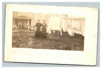 Vintage 1900's RPPC Postcard Women Doing Laundry Withee Wisconsin