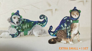 New Pet Dog Chameleon By Hyde And Eek Boutique 2PC SET SIZE XS