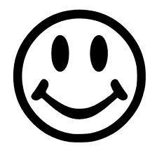 Smiley Face vinyl car Decal / Sticker