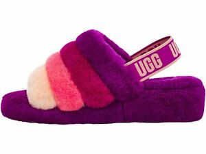 Women's Shoes UGG FLUFF YEAH SLIDE Sheepskin Slippers 1097169 BERRYLICIOUS MULTI