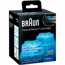 Braun x2 Clean Renew CARTRIDGE REFILLS for Activator Synchro Pulsonic CCR-2 HQ