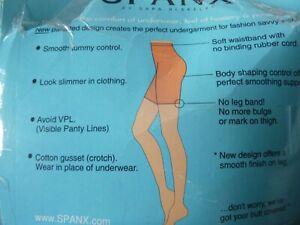 SPANX POWER PANTY SARA BLAKELY SLIMMING SHAPER SHORT BLACK NUDE UNWORN G XL