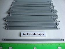"25 KNEX LIGHT GRAY RODS 7 1/2"" Pieces 7.5"" Bulk Standard Replacement Parts Lot"