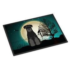 Carolines Treasures Bb2222Jmat Halloween Scary Standard Schnauzer Black Indoo.