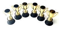 6 X POKAL WM EM Gold Schnapsglas Pinnchen Sieger Feier Party Fußball Finale NEU
