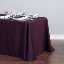 "90x132"" Eggplant Linen Polyester Tablecloth Event Wedding Party"