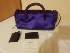Prada Handbag dark Purple IRIS Raso Bow Satin small handbag Rare