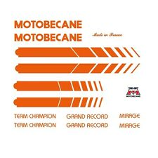 Motobecane Bicycle Frame Stickers - Decals - Transfers, Orange n.512