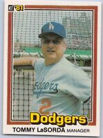 1981  TOMMY LaSORDA - DONRUSS Baseball Card # 420 - LOS ANGELES DODGERS