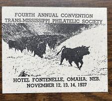Trans-Mississippi Philatelic Society Fourth Annual Convention, Omaha, Nebraska
