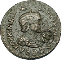 SALONINA 253AD Side Pamphylia Authentic Ancient Roman Coin w COUNTERMARK i65829