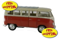 VOLKSWAGEN CLASSICAL BUS COLOR RED SCALE 1:32 BRAND NEW  FROM WELLY DIE CAST