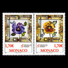 Monaco 2006 - Paintings Exhibition in the Grimaldi Forum Flowers - Sc 2453/4 MNH