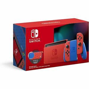 Nintendo Switch V2 Edition Mario Red & Blue